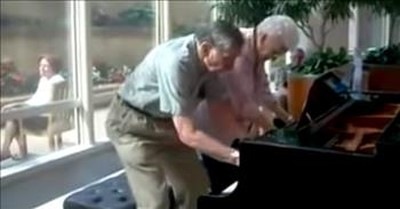 Couple Married 62 Years Perform Impromptu Piano Duet