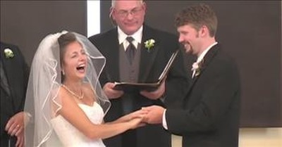 Groom Makes Hilarious Flub During Wedding Vows In Classic Viral Video
