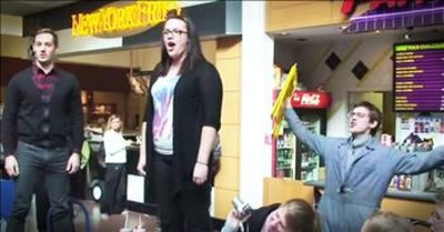 'Hallelujah' Christmas Flash Mob In A Food Court