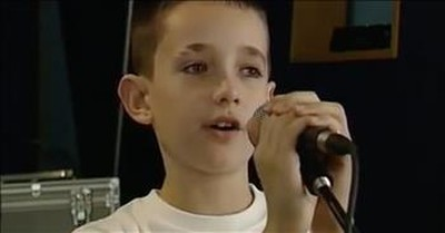 Sweet Boy Belts Out 'Precious Lord'