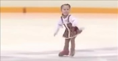 2-Year-Old Russian Ice Skater Delivers Incredible Routine