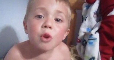 Little Boy's Easter Bedtime Solo Just Made My Day!