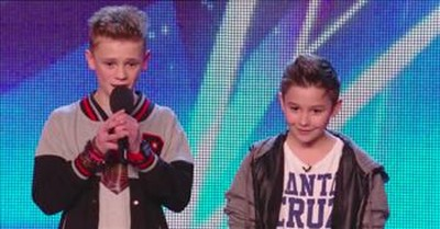2 Boys Sing Anti-Bullying Duet And Simon Hits The Golden Buzzer