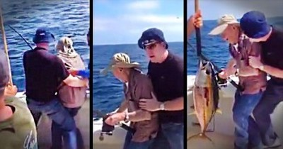 My Heart Skipped A Beat Watching This Father And Son – What A Perfect CATCH!