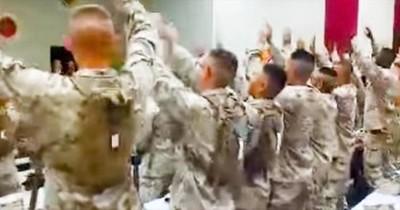 Group Of Marines Sing 'Days Of Elijah'