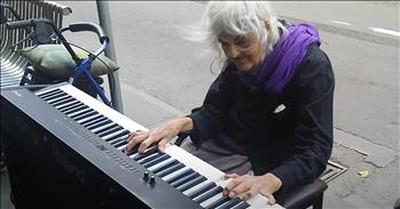 Elderly Woman Sits At Street Piano And Stuns Everyone
