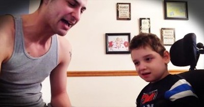 Dad Transforms Son With Special Needs By Singing Original Rap Song