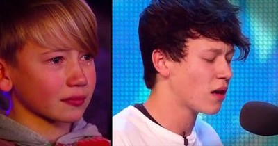 Teen Isaac Waddington Brings Little Brother To Tears With BGT Audition