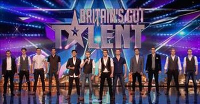 12 Tenors Sing Beautiful Rendition Of 'You Raise Me Up' On BGT