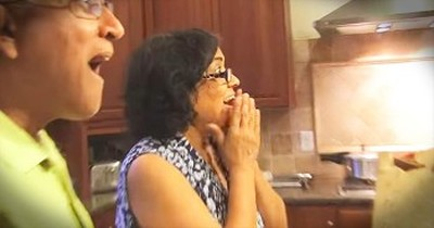 Woman Finds Out She's Gonna Be A Grandma And Does THIS. AWW!