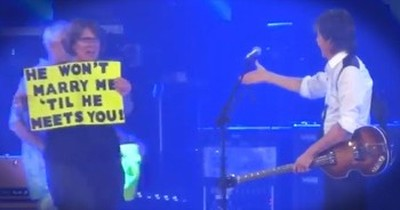 Paul McCartney Helps Audience Member With Marriage Proposal