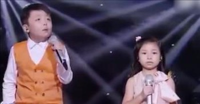 2 Children Sing Chilling Rendition Of 'You Raise Me Up'