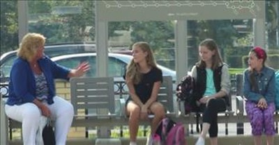 Total Strangers Help Bullied Girl At The Bus Stop