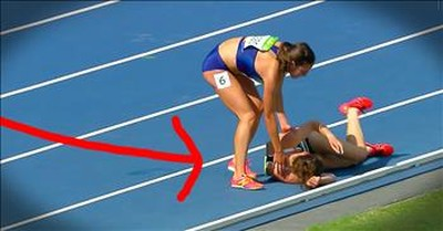 US Olympic Runner Shows Sportsmanship After Colliding With Competitor