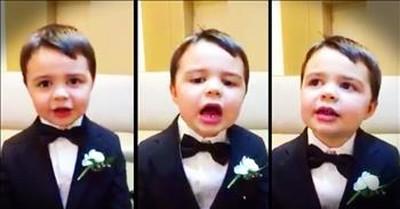 Precious Boy Recites His Bible Verse ABCs