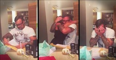 Dad Sobs Over His Daughter's Adoption Papers