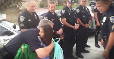 Daughter Of Fallen Cop Gets Police Escort To School