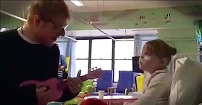 Ed Sheeran Serenades 9-Year-Old Fan Who Cannot Walk Or Talk