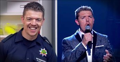 Firefighter's Safety Talk Turns Into Beautiful Singing Performance