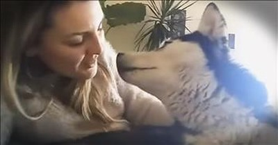 Singer Serenades Husky With 'I Will Always Love You'