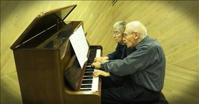90-Year-Old Husband And Wife Perfectly Play A Classical Masterpiece