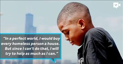 9 Year-old Humanitarian Leads Aid Mission To The Homeless Of Chicago