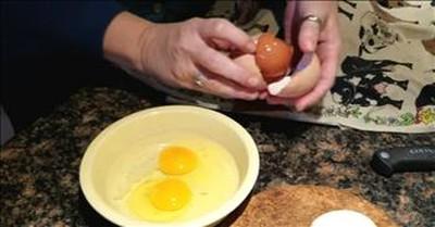 A Hen Lays An Egg...Inside Of An Egg?