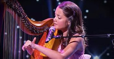Talented 12-Year-Old Plays Harp And Sings