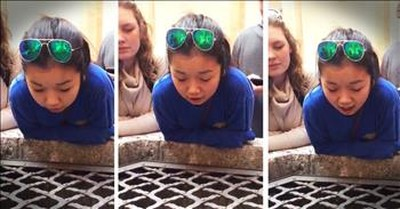 Girl Sings 'Hallelujah' Into A Well