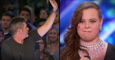 Simon Stops 21-Year-Old's Singing Audition