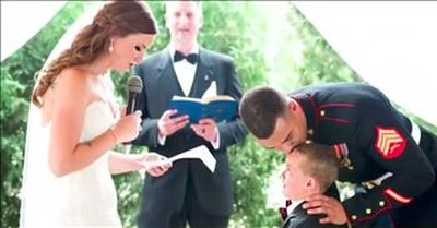 4-Year-Old Marine Son Cries Over Stepmom's Vows To Him