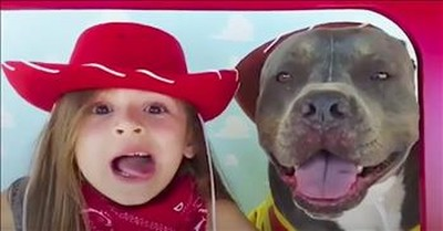 Girl Sings 'You've Got A Friend In Me' To Her Pit Bull