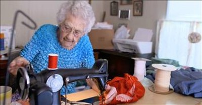 100-Year-Old Woman Wakes At 3AM To Sew For Operation Christmas Child