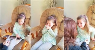 Little Girl Cries Finding Out She's A Big Sister