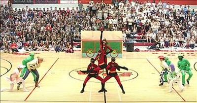 Dance Team Performs Disney Routine
