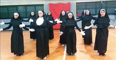 12 Nuns Perform Zumba Dance To I Will Follow Him