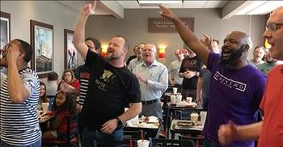 4 Men Start Gospel Flash Mob At Chick-Fil-A