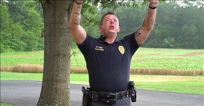 Police Officer And K9 Lip Sync To 'I Can Only Imagine'