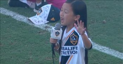 7-Year-Old Belts Out 'The National Anthem'