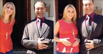 Dad Doesn't Realize His Kids Are Doing A 'Pregnancy Reveal'