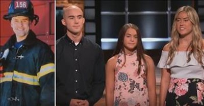 Shark Tank Brought To Tears As Kids Pitch Late Firefighter Dad's Product