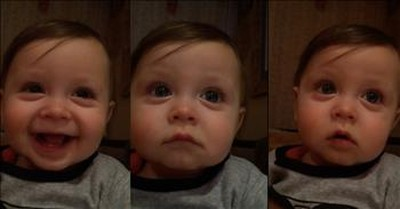 Baby Emotionally Reacts To Andrea Bocelli Singing To Elmo
