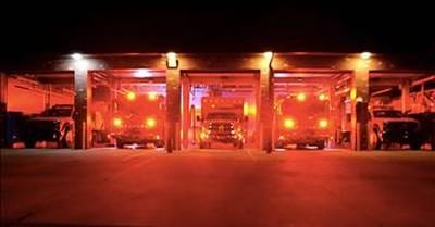 Firetrucks Put On Incredible Christmas Light Show