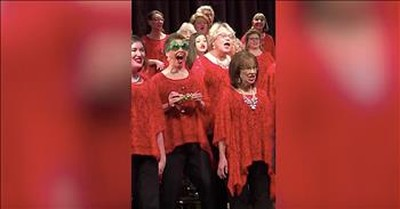 Christmas Choir Singer Goes Viral With Goofy Dance Moves