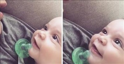 Mother Sings 'Give Me Jesus' To Smiling Baby