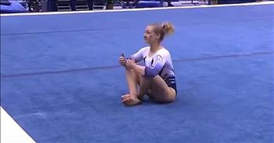 Gymnast Shannon Evans Performs Viral Mario-Themed Routine