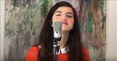 Viral Crooner Angelina Jordan Sings 'Can't Take My Eyes Off You'