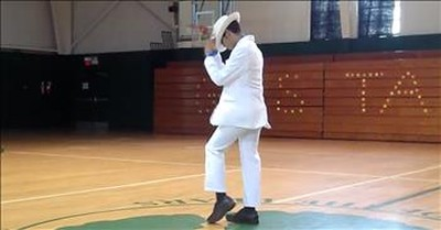 Student Shows Off Michael Jackson Dance For Talent Show