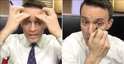 Funny News Anchor Shares His Makeup Routine