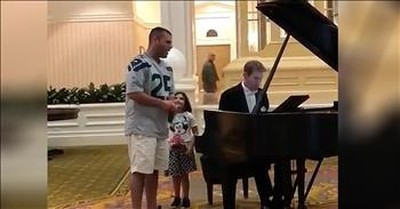 Dad Sings 'Ave Maria' While At Disney World With Daughter